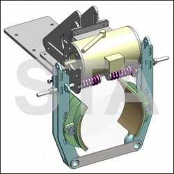 La Puleggia kit frein avec machoire pour treuil FF750
