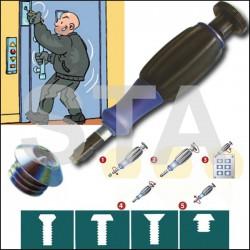 Protection triangle de déverrouillage de portes palières Vis M5x12