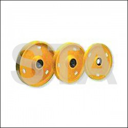 Pair of pulleys for full hydraulic lift P: 400 Number of grooves: 2