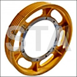 Thyssen TW63 diameter pulley 590 7 Cable of 10