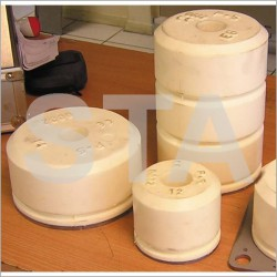 Damper stop buffer round plate diameter 100 mm 160 mm Top