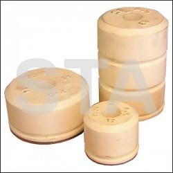 Amortisseur tampon d'arrêt plaque ronde Diam 140 mm Haut 200 mm