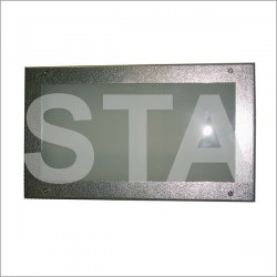 Ceiling recessed stainless steel engraved with relief